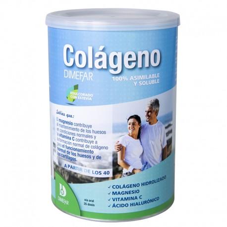 Colágeno Dimefar Bote 350g con ácido hialuronico, magnesio y vitamina C